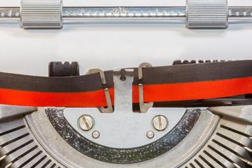 gros plan sur ancienne machine crire manuelle