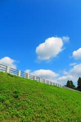 空と雲と湖畔の風景8