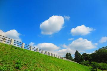 空と雲と湖畔の風景6