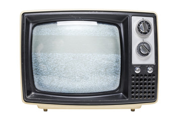 Vintage TV with static on it's screen