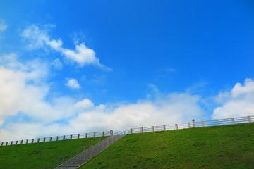 空と雲と湖畔の風景21