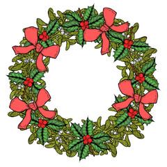 Green Mistletoe wreath.