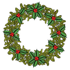 Green Mistletoe wreath.