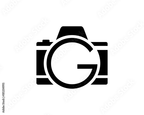 Black camera photography with initial letter g on the lens symbol black camera photography with initial letter g on the lens symbol logo vector altavistaventures Choice Image