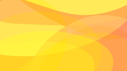Abstract simple yellow and orange technology background. Light warm gradient colors rounded shapes texture for software design, web, apps wallpaper.