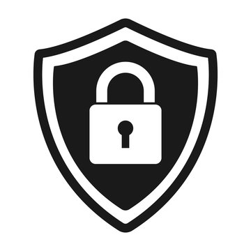 Secure protection abstract logo. vector shield lock Icon