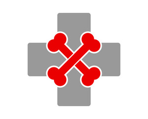 bone clinic pharmacy pet care cross image icon logo