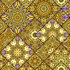 Seamless mandala pattern. Vector endless illustration