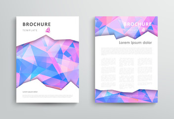 Abstract triangular brochure design template