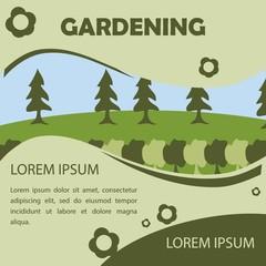 Gardening Poster Illustration