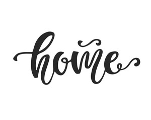 Home hand lettering. Social Media