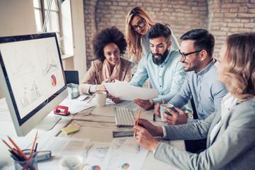 Business people in modern office