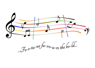 Musical score Fortune favours the bold