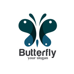 Butterfly Logo Design Template Vector