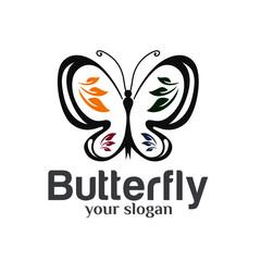 Butterfly Logo Design Template Vector