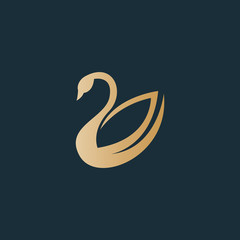 Swan logo. Luxury logo
