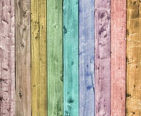 colorful wooden plank background