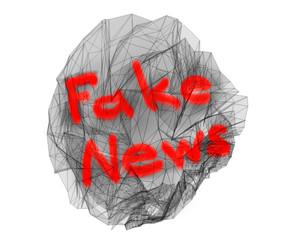 fake news  3d illustration