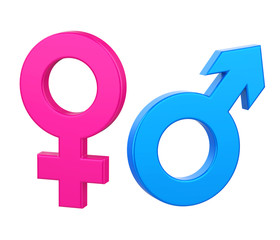Female Male Gender Symbol Isolated