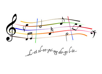 Musical score Let sleeping dogs lie