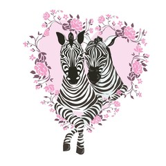 cute zebra i love you forever card