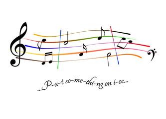 Musical score Put something on ice