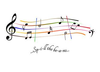 Musical score Spill the beans