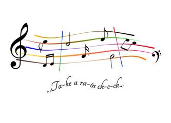 Musical score Take a rain check