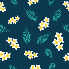 Floral paradise tropic seamless pattern
