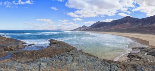 Panorama of the beach at El Cofete, Fuerteventura