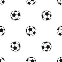 Soccer ball pattern seamless black