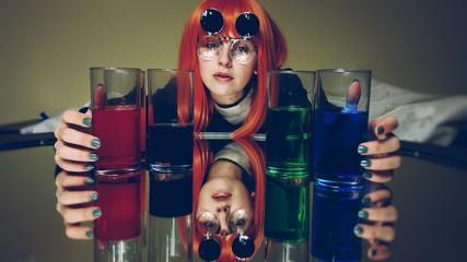 Retrato artístico sobre los peligros del alcoholismo