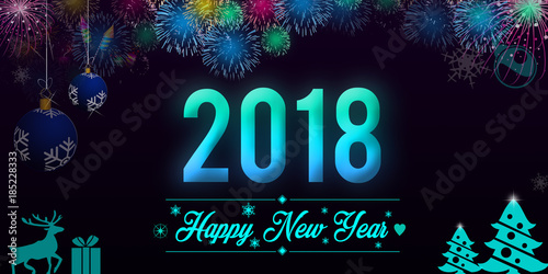 happy new year 2018 background wallpaper