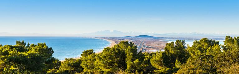 Panorama depuis le Mont Saint Clair à Sète, Hérault en Occitanie, France