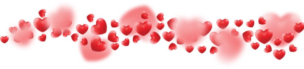 Happy Valentine's Day. Love valentine's background with hearts. Happy Valentines Day Background with 3D Realistic Red Hearts. Valentine's day abstract background.