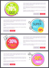 -70 Big Sale and Super Price Vector Illustration