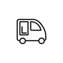 Mini car line icon