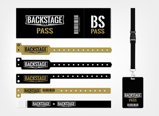 Model of different access control designs.  Suitable for events, concerts, parties, festivals and private areas. Bracelets, ticket and lanyards.
