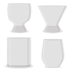 Vector illustration for empty cup glass