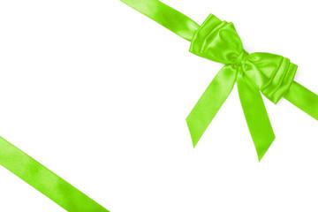 green ribbon bow