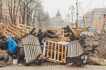 Barricades in the streets of Kiev