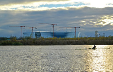 In de dag Stadion View of stadium for holding games of the FIFA World Cup of 2018. Kaliningrad