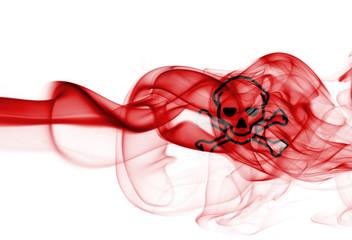 Poison smoke sign flag