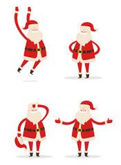 Santa Christmas Collection Vector Illustration