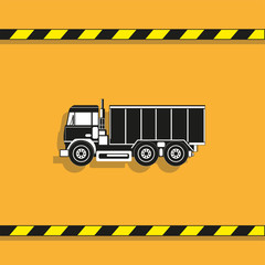 Truck. Vector icon. Conditional vector image on a light background.