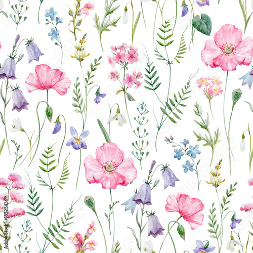 """Fotolip Com Rich Image And Wallpaper: """"Watercolor Floral Vector Pattern"""" Stock Image And Royalty"""