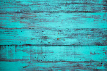 Blue color, grunge old scratched wood board textured background