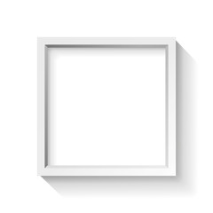 Realistic empty frame on white background, border for your creative project, vector design object