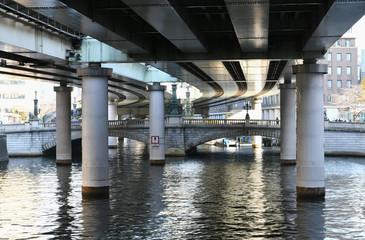 日本の東京都市景観「日本橋を望む」=東京都中央区