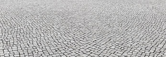 Kopfsteinpflaster im Panoramaformat Fototapete